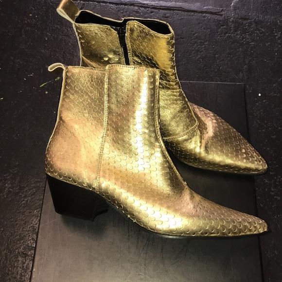 mens gold boots cheap online